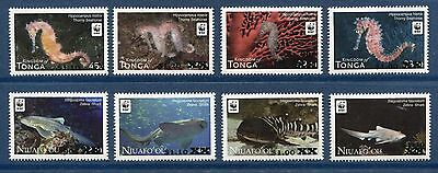 Tonga & Niuafo'ou 2015 WWF Surcharges 2012 Issues Scott 1173-76 N 271-74, Scarce