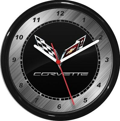 """Corvette Wall Clock 10"""" Garage Work Shop Gift  Father's Day Man Cave"""