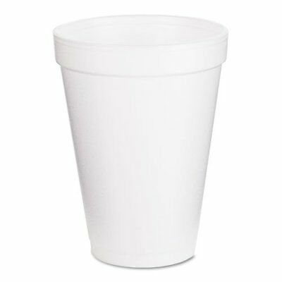 Drinking Cup Dart 12 oz. White Styrofoam Disposable Case of 1000 *GREAT VALUE!*