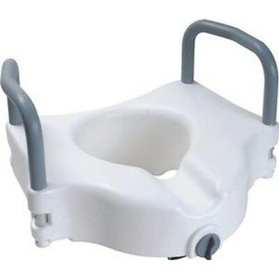 Cardinal Health Raised Toilet Seat w/ Arms and Lock, Rises 5'' -1 Count *NEW*