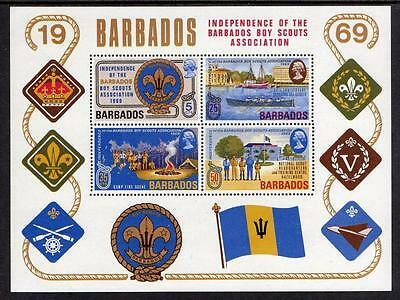 Barbados MNH 1969 Independence of Barbados Boy Scouts M/S