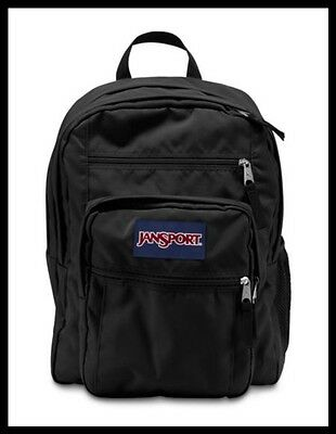 JANSPORT: Big Student Original Large School Bag Backpack in Black (NWT)
