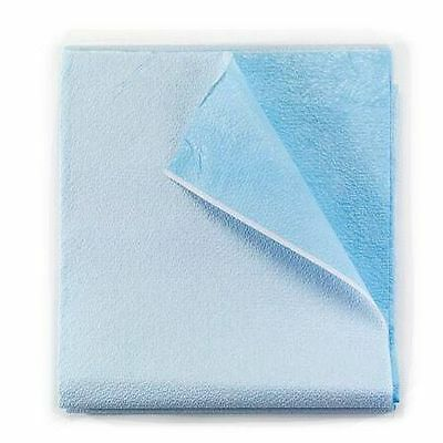 Disposable Tissue/Poly Flat Stretcher Sheets Blue -Case of 50