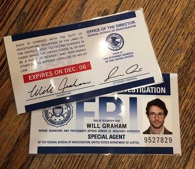Hannibal TV Show Authentic Prop Will Graham's FBI ID Cards with COA