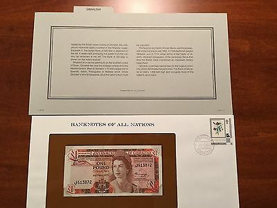 Banknotes of All Nations - Gibraltar 1 Pound 1975 *CRISP UNCIRCULATED*