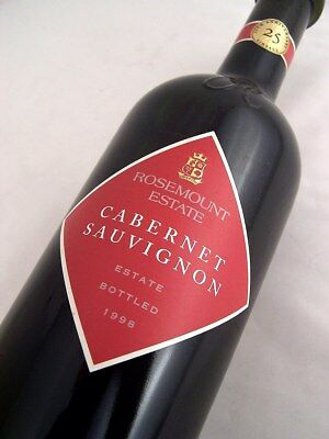 1998 ROSEMOUNT ESTATE Cabernet Sauvignon Isle of Wine