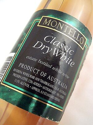 1993 circa NV MONTELLO Classic Dry White Blend Isle of Wine