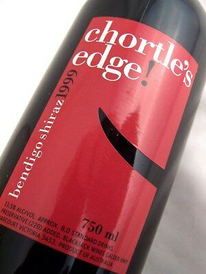 1999 BLACKJACK Vineyards Chortles Edge Shiraz A Isle of Wine