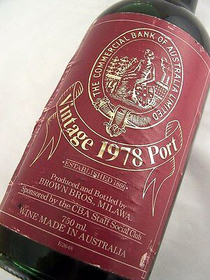 1978 BROWN BROTHERS Commercial Bank of Australia Vintage Port B Isle of Wine