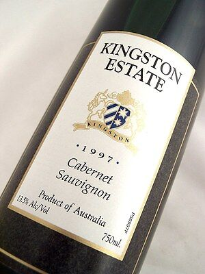 1997 KINGSTON ESTATE Wines Cabernet Sauvignon B Isle of Wine