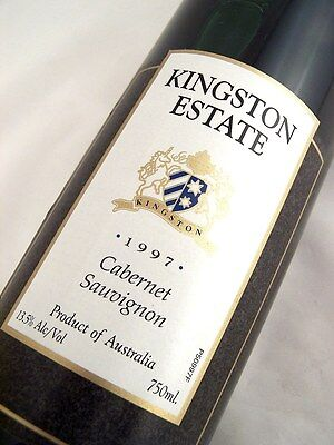 1997 KINGSTON ESTATE Wines Cabernet Sauvignon A Isle of Wine