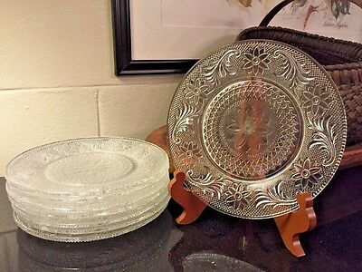 """Set of 8 Duncan & Miller Early American Sandwich #41 8"""" Luncheon / Salad Plates"""