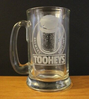 Vintage Collectable Tooheys Heavy Large Beer Glass Stein Great For Bar