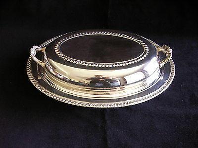 Vintage WM Rogers Silver Co. Oval Serving Dish with Lid