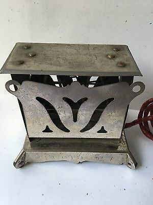 Vintage 1920's Old Antique Electric Toaster Chrome Mini Untested