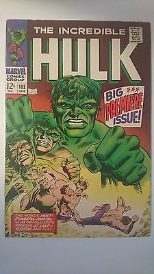 Incredible Hulk 102. VF- 7.5 strictly graded