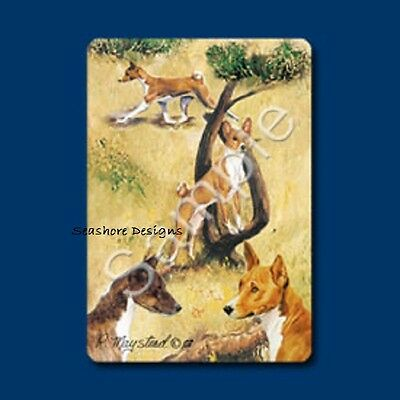 "BASENJI - Ruth Maystead ""Best Friends"" Dog Playing Cards Deck Box Sealed NEW"