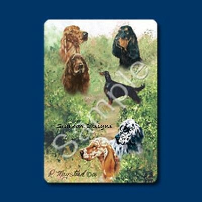 "SETTERS -Ruth Maystead ""Best Friends"" Dog Playing Cards Deck Box Sealed NEW"
