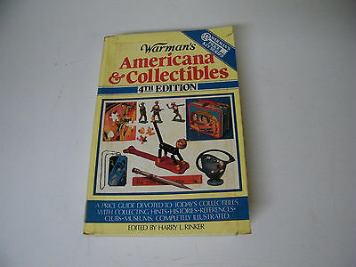 Vintage 1990 Warman's 4th Edition Americana & Collectibles Price Guide