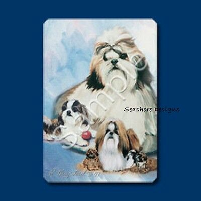 """SHIH TZUS - Ruth Maystead """"Best Friends"""" Dog Playing Cards Box Sealed NEW"""