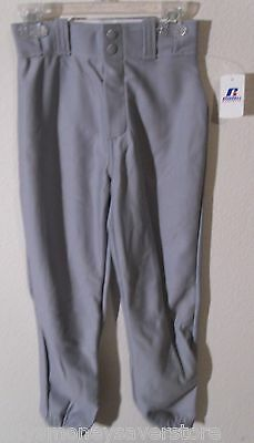 NWT Russell Youth Boys Knit Baseball Pants S Grey MSRP$20