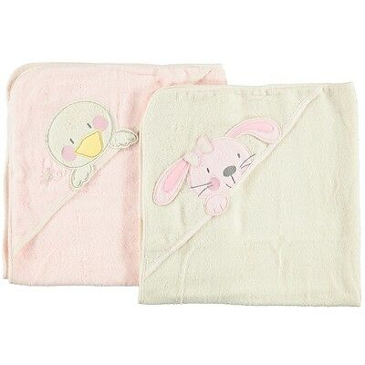 B is for Bear Hooded Towels 2 Pack, Newborn Baby Health Essentials