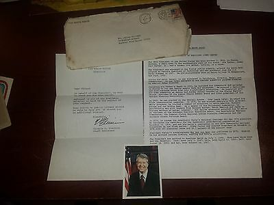 White House Letter from Jimmy Carter