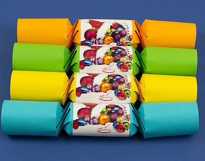 8 Bright Fill Your Own Twist Shut Christmas Crackers Kit - SALE