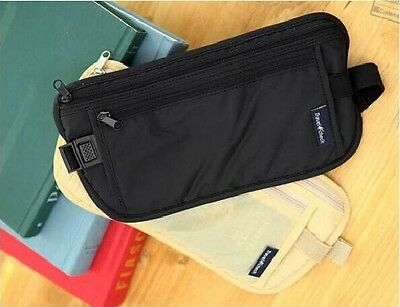 New Travel Secure Bag Passport Waist Pouch Card Ticket Money Belt Hidden Wallet