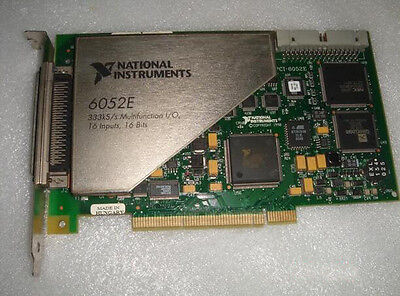 Used National Instruments Data Acquisition Card NI PCI-6052E Tested