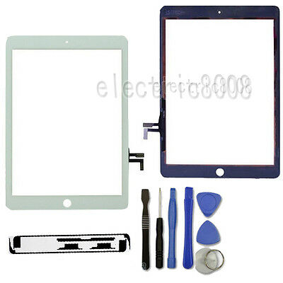 White Touch Screen Front Glass Digitizer+Sticker+Tool Replacement For iPad Air 5