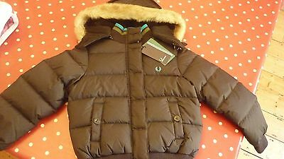 USED Fred Perry Warm Waterproof Black Down Jacket
