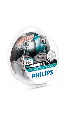 PHILIPS H4 Extreme Vision +130% lumineux voiture PHARE AMPOULES Paire - Neuf