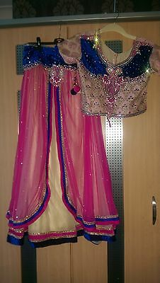 girls lovely lengha asian indian outfit size 38