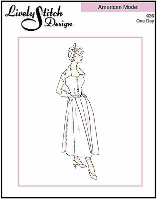 """One Day / sewing pattern for the 22"""" American Model doll by Tonner"""