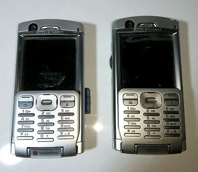 Pair of Vintage Sony Ericsson P990i GSM Smart  mobile phone handsets bundle .