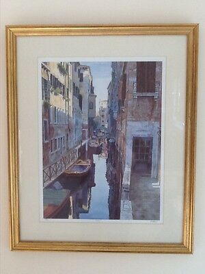 Framed limited edition venice print picture by Michael MacDonagh Wood
