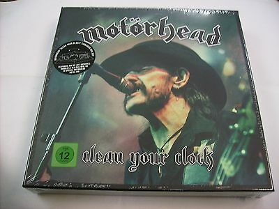 Motorhead - Clean Your Clock - 2Lp/dvd/bluray/cd Boxset New Sealed 2016