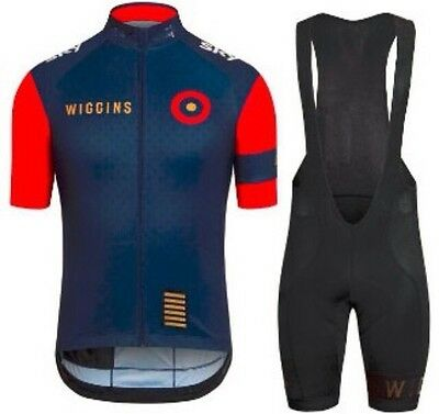 TEAM WIGGINS Short Sleeve Cycling Jersey With Bib Shorts