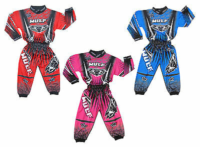 Wulfsport Toddler 2-3 Yr MX Motocross ATV Ride On Toy Race Jersey Suit Pant