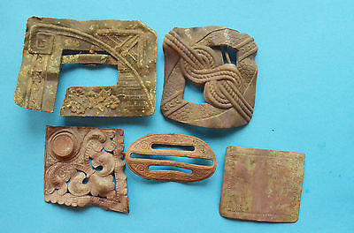 Medieval parts of belt buckles. Viking period