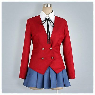 Anime Tiger Dragon Toradora Aisaka Taiga Cosplay Costume School Uniform