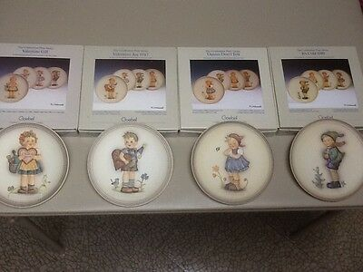 hummel plates ( set of 4 ) 86,87,88,89, in boxes