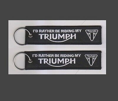 Triumph Keyring Fob Embroidered  New Uk Stock Fast Uk Free