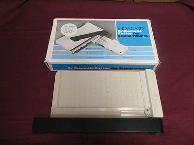 New Showgard stamp mount guillotine cutter with box