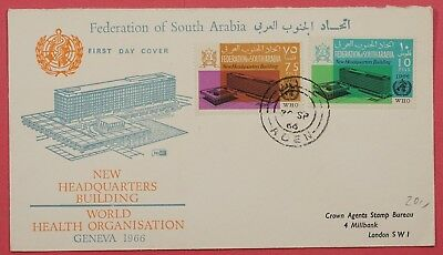 1966 Fdc Federation Of South Arabia Who Building