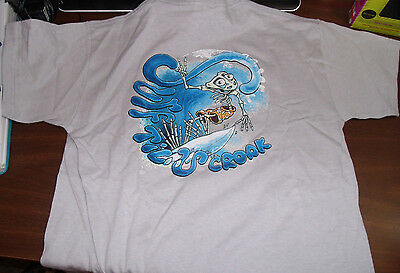 Peace Frogs Surf Till You Croak Youth Large(14-16) Glows In Dark
