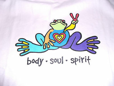 Peace Frogs Body Soul Spirit Youth Large (14-16) Pink