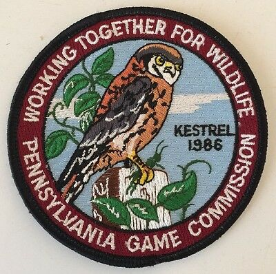 Pa Penna Pennsylvania Game Commission NEW Original WTFW 1986 Kestrel Patch