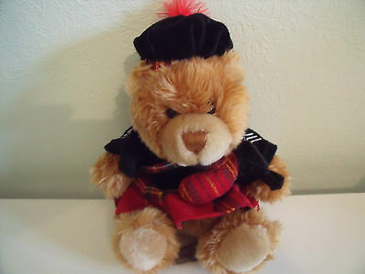 Keel Toys Teddy Bear In Traditional Scottish Outfit Kilt Bagpipes Tam O Shanter